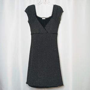 CHARLOTTE RUSSE Blk/Wht Polka Dot Dress